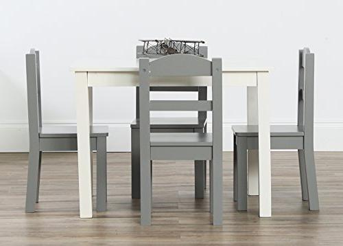 Tot Collection Wood Table & White/Grey