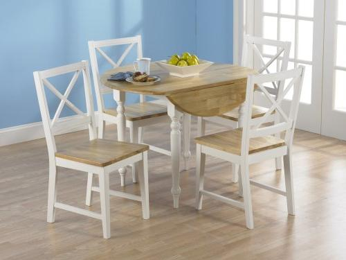 TMS 5 Dining Set, White/Natural
