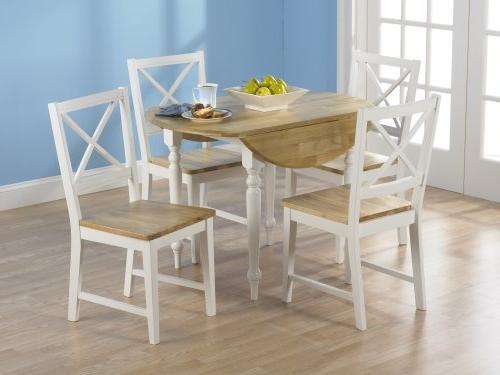 TMS Dining Set, White/Natural