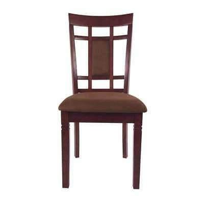 Transitional Wooden Dining Set with Back Chairs,