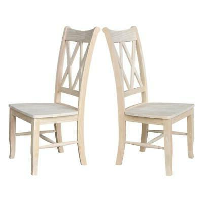 Unfinished Wood Dining Chair FREE NEW