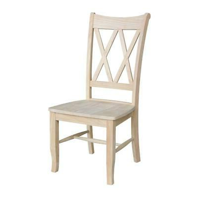 Unfinished Wood X-Back Dining Chair FREE SHIPPING