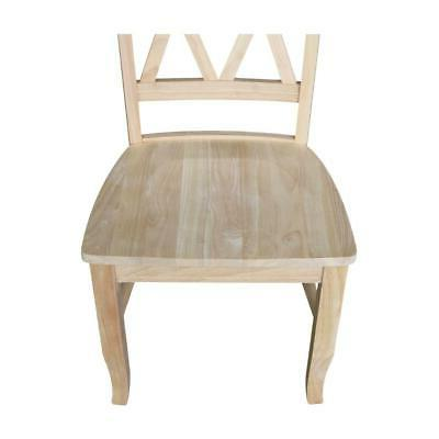 Unfinished Wood Double X-Back Dining NEW