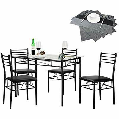 vecelo 5 piece dining table set