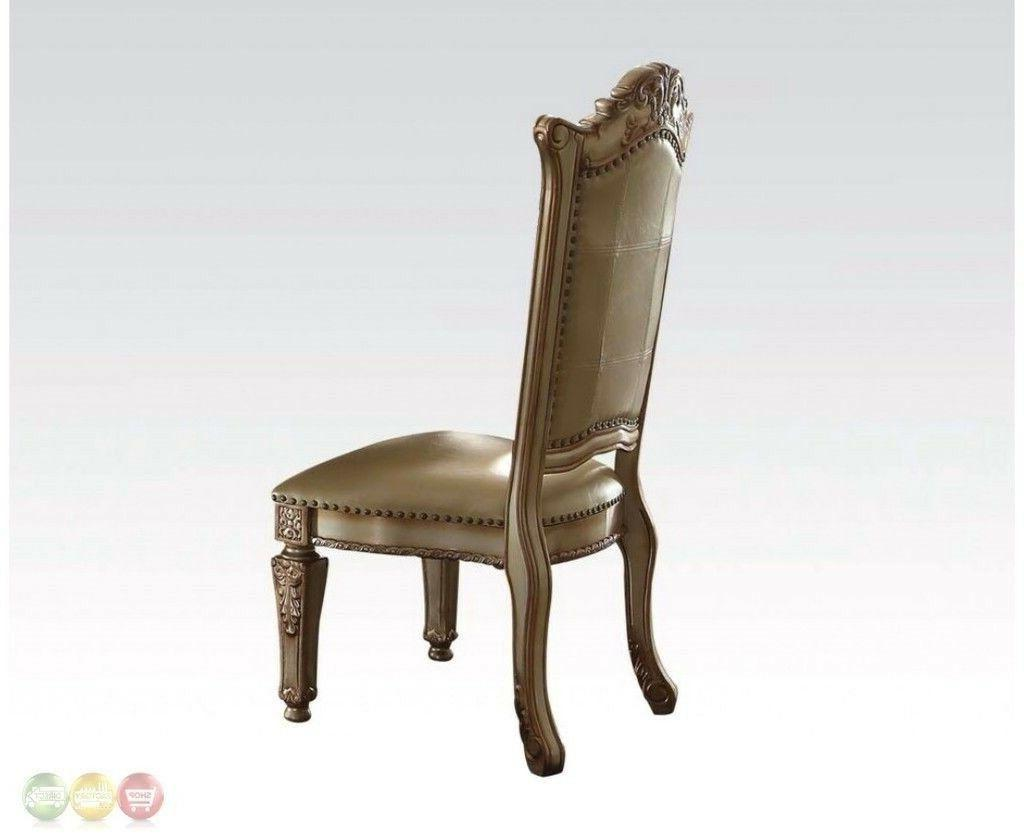 """Vendome Baroque 84""""-120""""Luxury 9pc Dining Room Gold Wood Patina"""