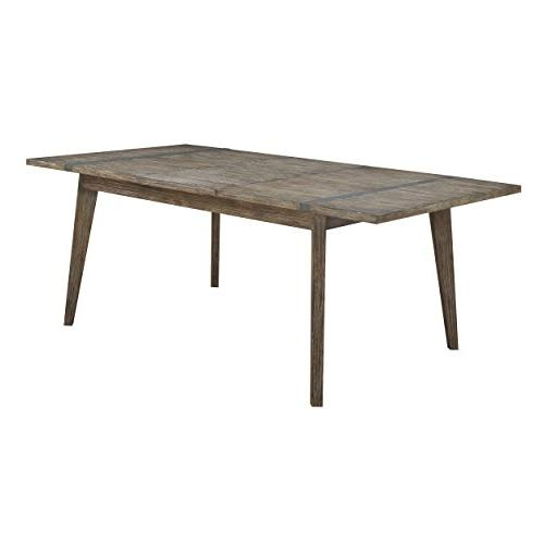 viewpoint rectangular driftwood dining table