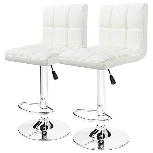 white leather bar stools counter