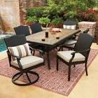 Wicker Patio Furniture Set 7-Piece All-Weather Dining Table