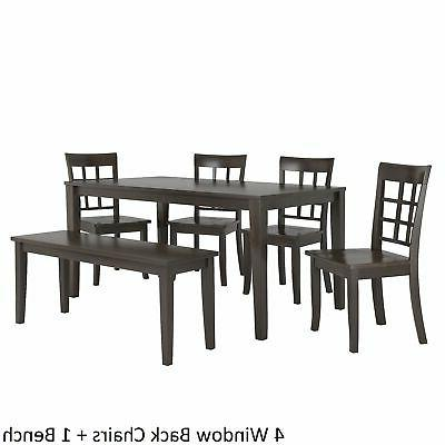 Wilmington 60-Inch Rectangular Antique Black Dining Set by Classic