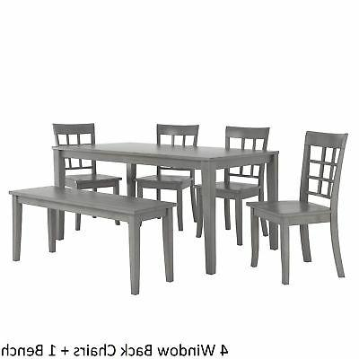 Wilmington II 60-Inch Antique Grey Dining Set by Q Classic