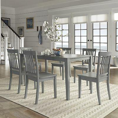 Wilmington Antique Grey Dining Set by