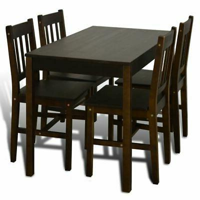 Wooden with 4 Chairs Kitchen Dining