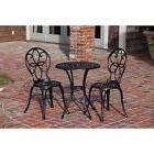 Wrought Iron Patio Set Bistro Dining Table Chair Outdoor Gar