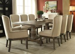 ACME Landon salvage brown finish dining set