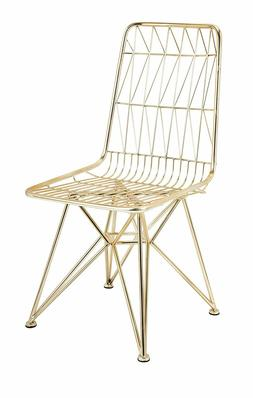 Imax Larkin Dining Side Chair, Gold   NEW