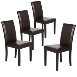 Leather Dining Room Chairs Padded Kitchen Chairs with Bigger