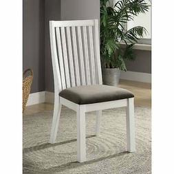 Furniture of America Lell Farmhouse White Dining Chairs (Set