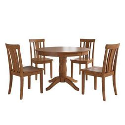 Weston Home Lexington 5 Piece Round Dining Table Set with Sl