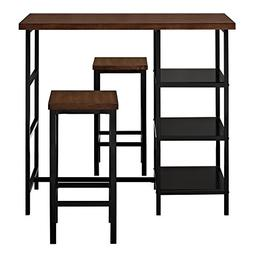 Dorel Living DL7695 Cosmo 3-Piece Metal Pub Set With Wood To