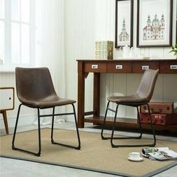 Roundhill Furniture Lotusville Vintage Faux Leather Dining C