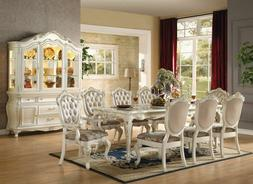 ACME Furniture Luxurious Chantelle Pearl White Dining 9 Pc S