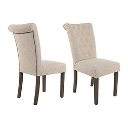 Merax WF015974AAA Luxurious Fabric Dining Chairs with Solid