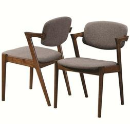 malone dining side chairs grey and dark