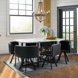 marble 7 piece dining table set 6