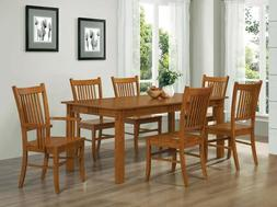 Marbrisa Mission Style 7pc Casual Dining Set, Table & Chairs