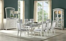 Acme Furniture Maverick Platinum Finish 9 Piece Dining Room