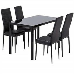 Mecor Dining Table Set, 5 Piece Kitchen Table Set with Glass