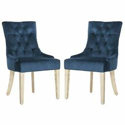 """Safavieh Mercer Collection Abby Navy Tufted Side Chair , 19"""""""