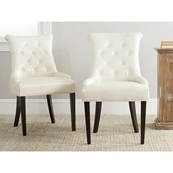 Safavieh Mercer Collection Bowie Dining Chairs, Cream, Set o
