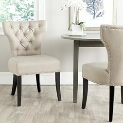 Safavieh Mercer Collection Dharma Dining Chair, Biscuit Beig