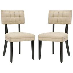 Safavieh Mercer Collection Mckenna Tufted Side Chairs, Beige
