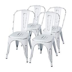 Furmax Metal Chairs Distressed Style Dream White Indoor/Outd