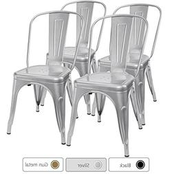 Furmax Metal Dining Chair Tolix Style Indoor-Outdoor Use Sta