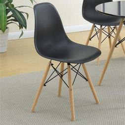 Poundex Metal Frame Dining Chair Petal-Like Seats Black And