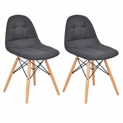 Set of 2 Mid Century Style Upholstered DSW Dining Side Chair