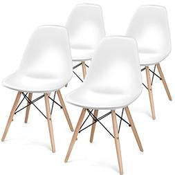 Giantex Set of 4 Mid Century Modern Style DSW Chair Wood Ass