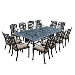 Milan 13 Piece Dining Set with 102x46-inch Table and 12 Stac
