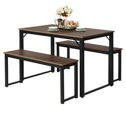 Modern 3 Piece Dining Set Studio Collection Soho Dining Tabl