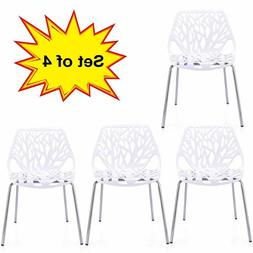 Modern Dining Chair  Stackable Birds Nest Accent Armless Sid
