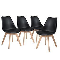 H.JWeDoo Modern Dining Chairs Set of 4,Tulip Kitchen Chairs