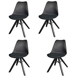 Polorim Modern Wooden Dining Chairs Set of 4 Upholstered Sid