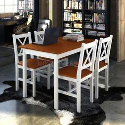 modern dining room set with wooden table