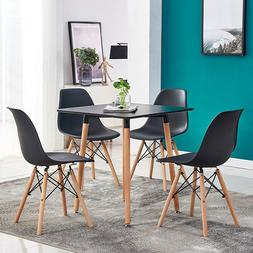 Modern Dining Table+4Pcs Chairs Set Coffee Office Kitchen Lo