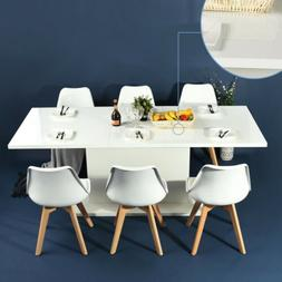 Modern Kitchen Dining Table Extendable Wooden 4-8 Seaters Hi