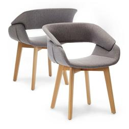 Modern Living Dining Room Accent Arm Chairs Set of 2 Linen F