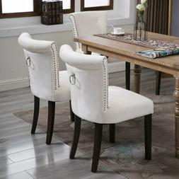 Modern Set of 2 Dining Side Chairs Armless Room Chair Accent